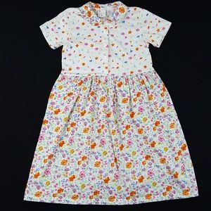 Hanna Andersson Floral Print Cotton Dress Sz 12